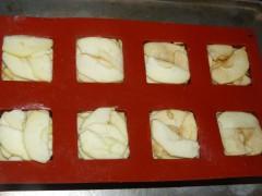fondant,pomme,crème,tofu soyeux,spéculoos,caramel,café