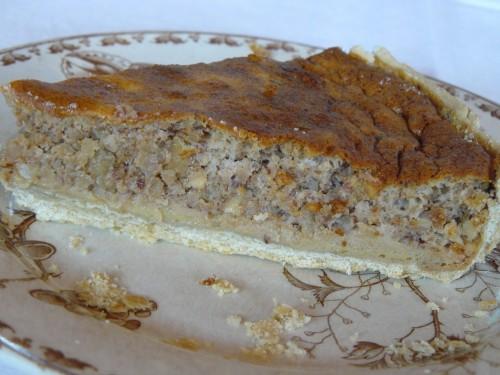 tarte,noix,noisette,pignon,miel de lavande